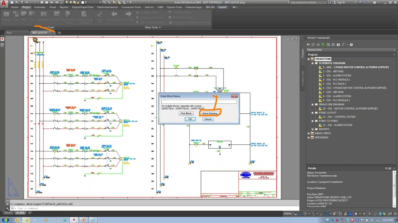 Autocad Electrical Working With Title Blocks Drawings Video Thumbnail