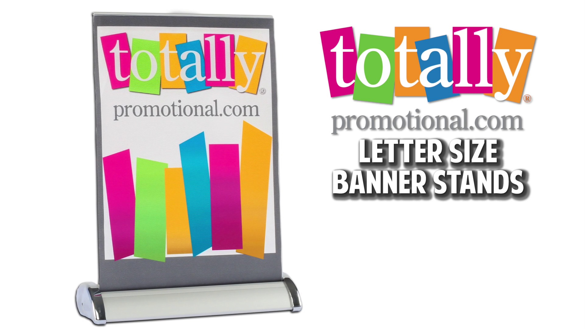 Mini Retractable Banners Table Top Retractable Letter Size Banner