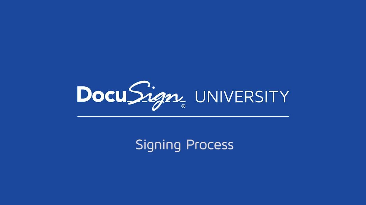 DocuSign Sign a Document Video