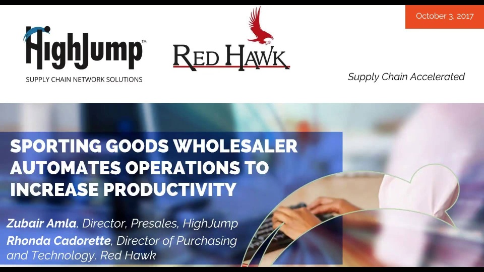 Wistia video thumbnail - Sporting Goods Wholesaler, Red Hawk, Automates Operations to Increase Productivity
