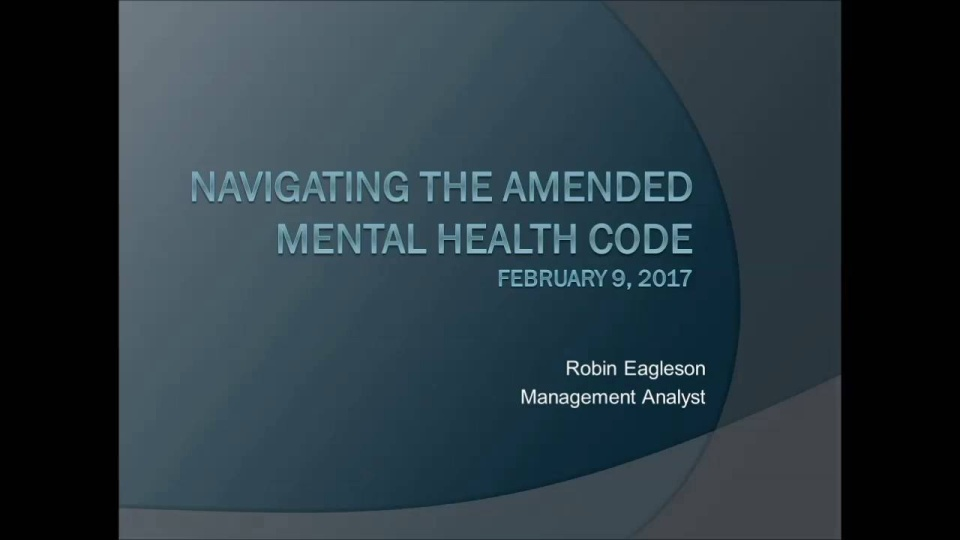 Navigating The Amended Mental Health Code How To For Court Staff