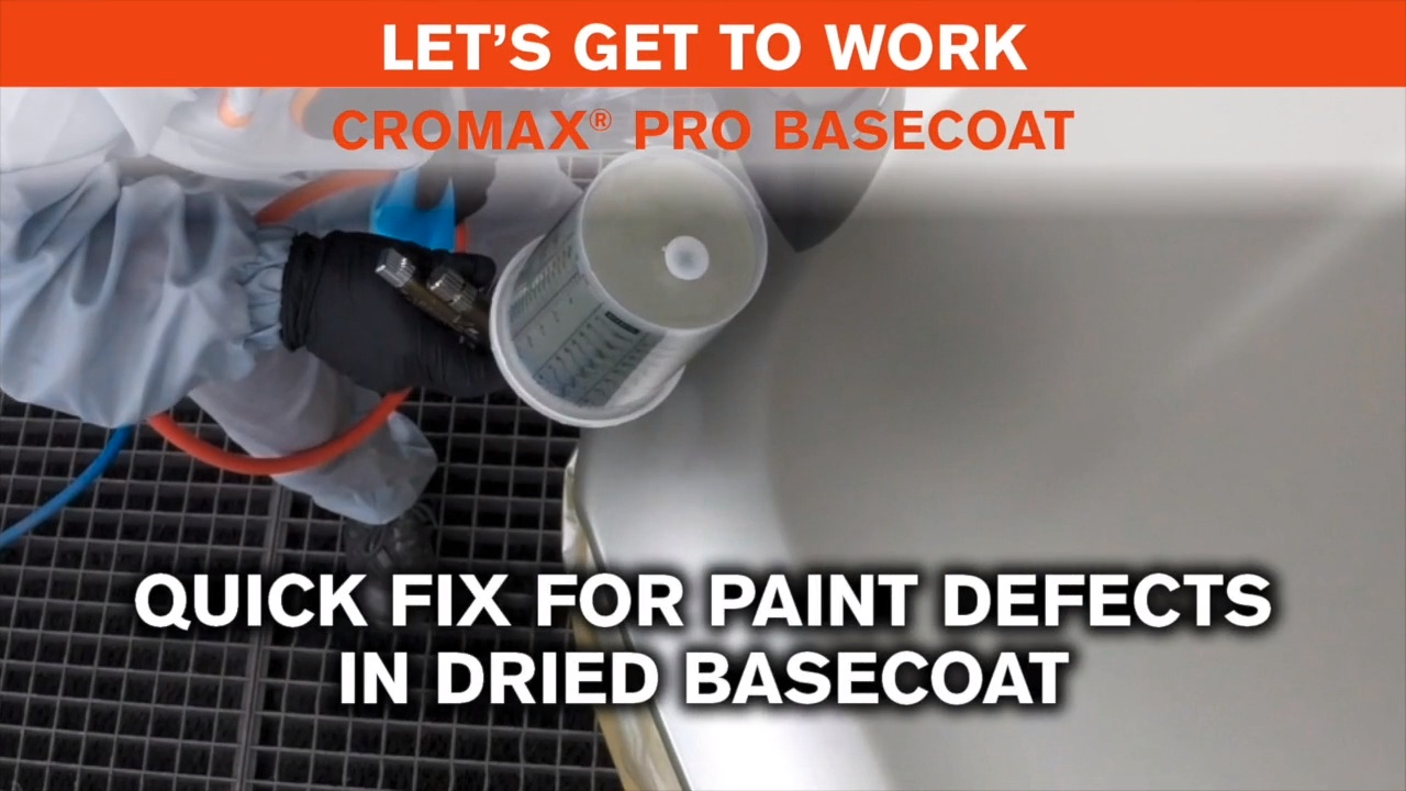 Let's Get To Work- 8 Quick fix for paint defects in dried Basecoat?