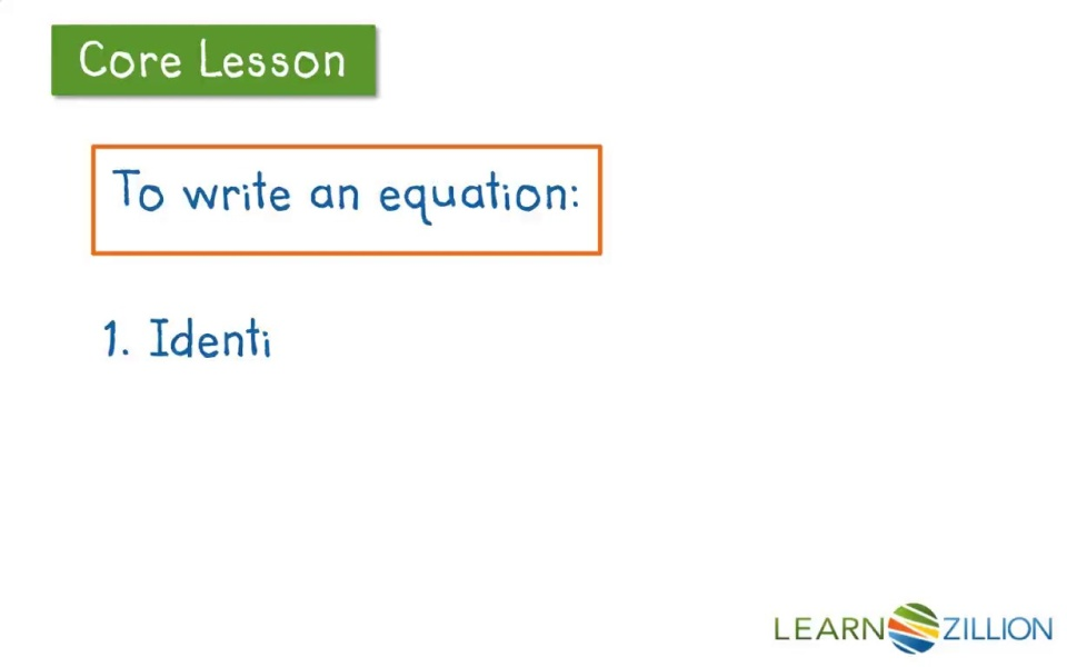 Lesson video for 'Convert a real-world situation into an equation'