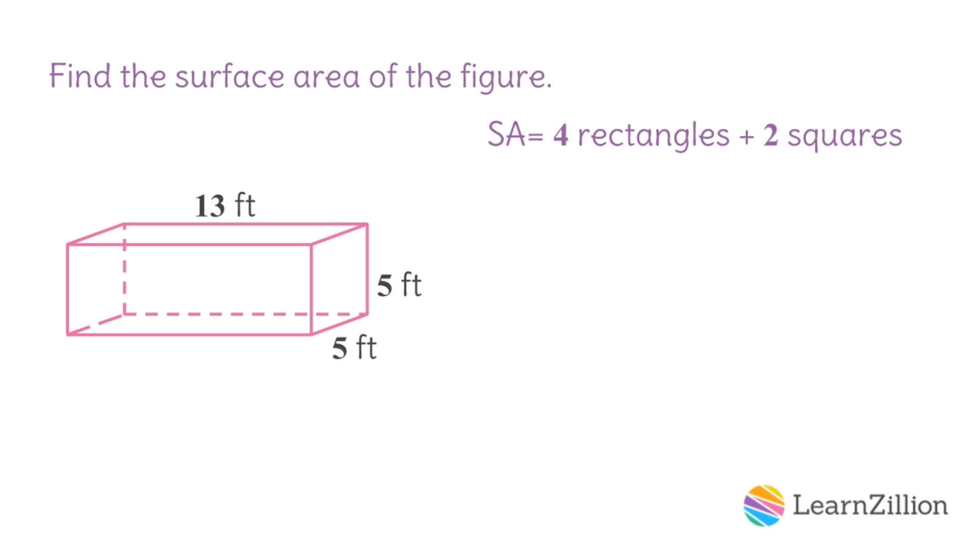 Find Surface Area Of Prisms And Pyramids (fp)  Learnzillion