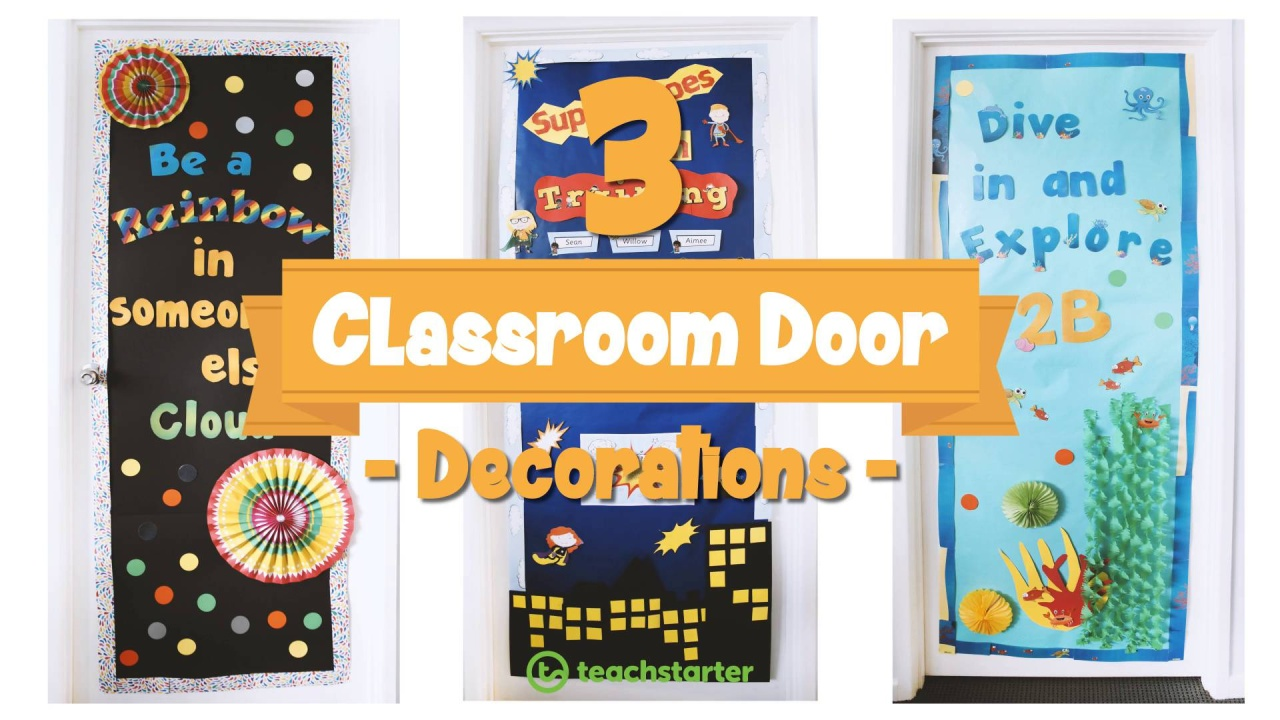 Awesome And Easy Classroom Door Display Ideas