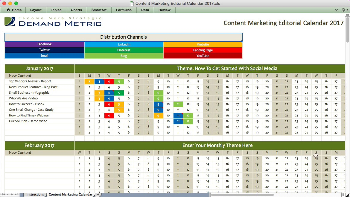Content Marketing Editorial Calendar 2017 | Demand Metric