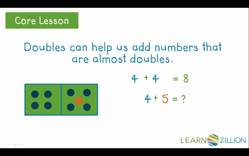 Adding and subtracting using doubles facts | LearnZillion
