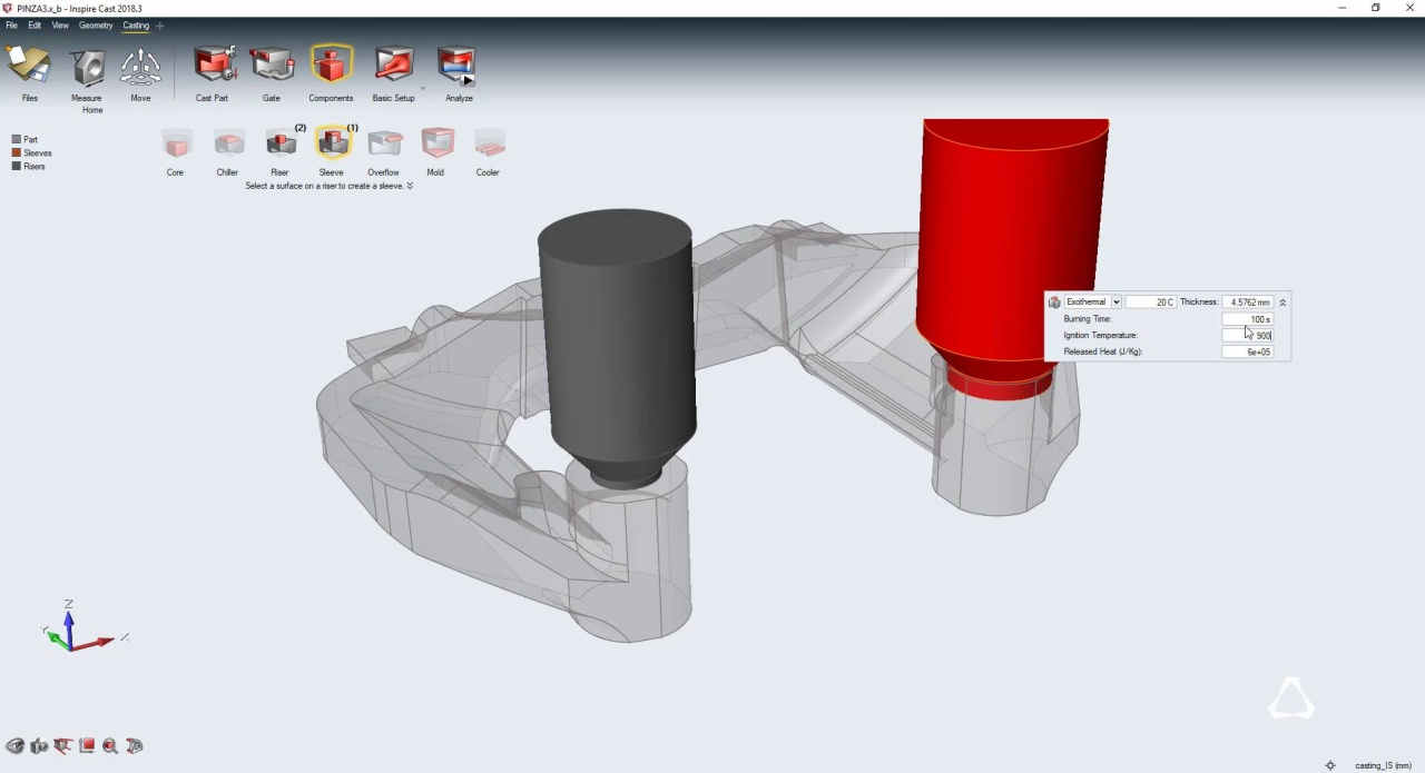 Altair Inspire Cast Streamlined Casting Simulation Software Kaos Polos Azzalea Exothermal Support