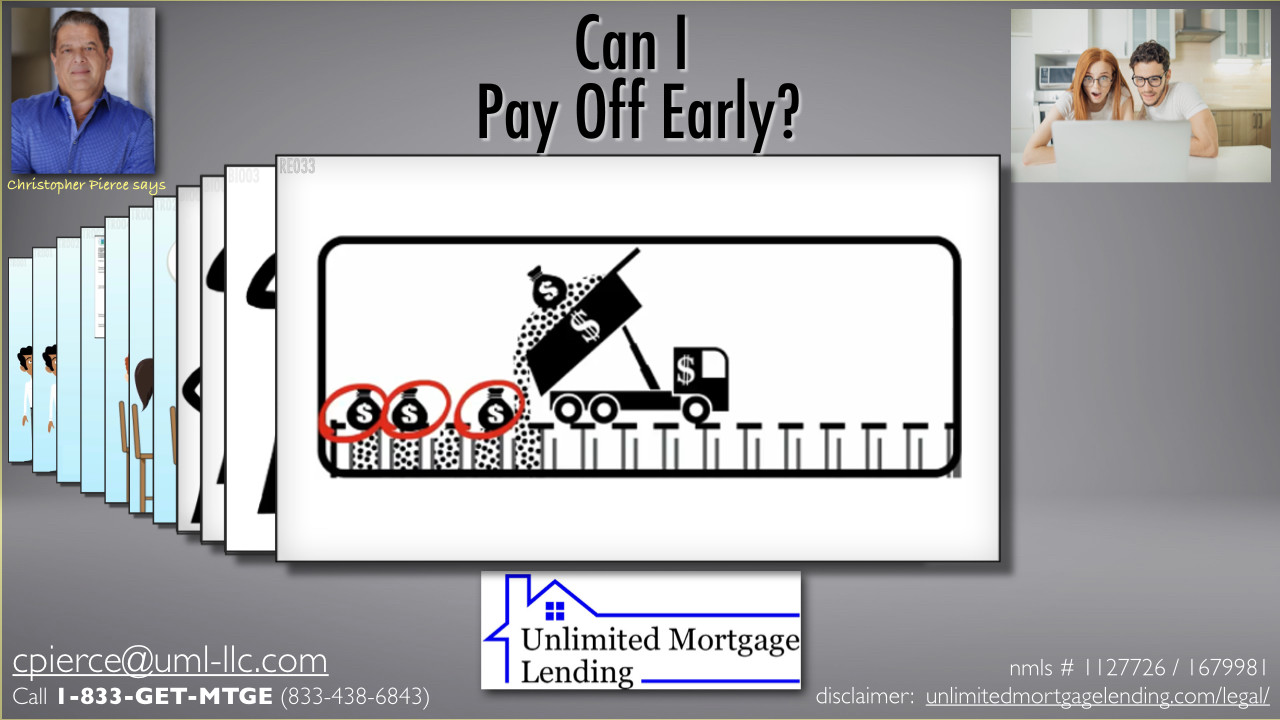 Can I Pay Off My Loan Ahead Of Schedule? Unlimited Mortgage Lending