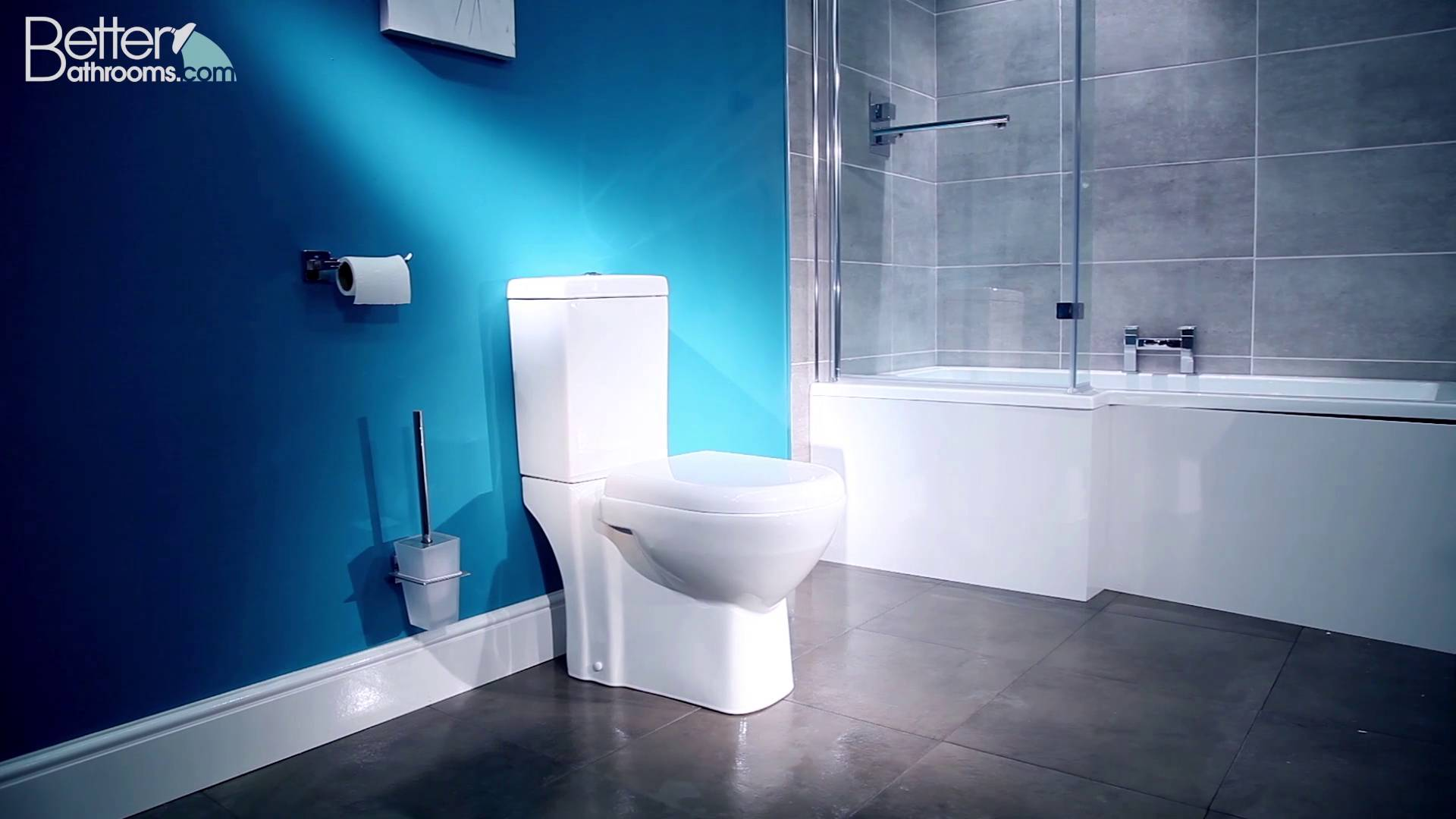 Modern Close Coupled Veneto Toilet with Soft Close Toilet Seat