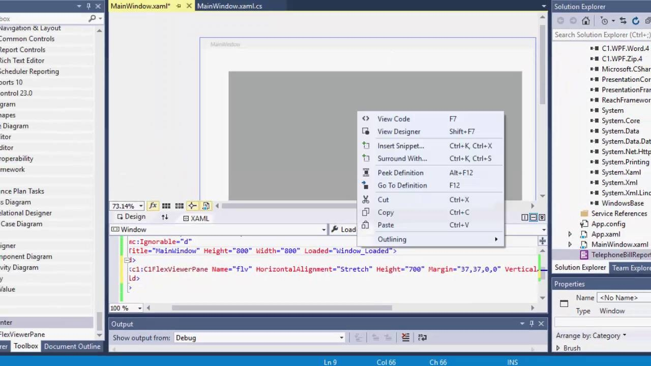 Get started with flexreport for wpf componentone wpf edition get started with flexreport for wpf ccuart Images
