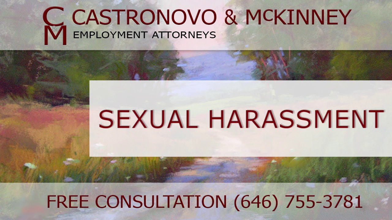 Sexual harassment lawyers middlesex county nj