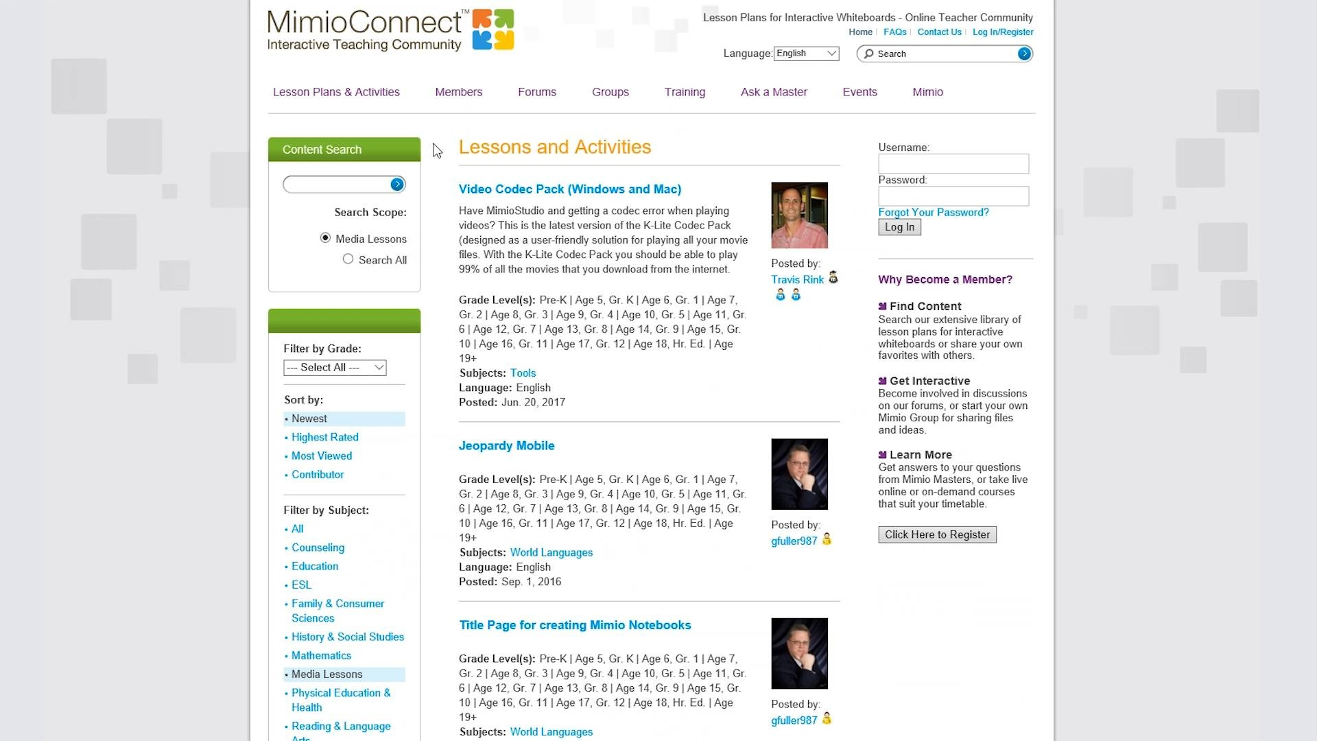 Mimioconnect Lesson Plans For Interactive Whiteboards Online