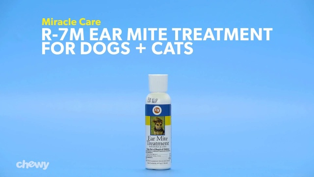 Miracle Care R-7M Ear Mite Treatment for Dogs & Cats, 4-oz bottle