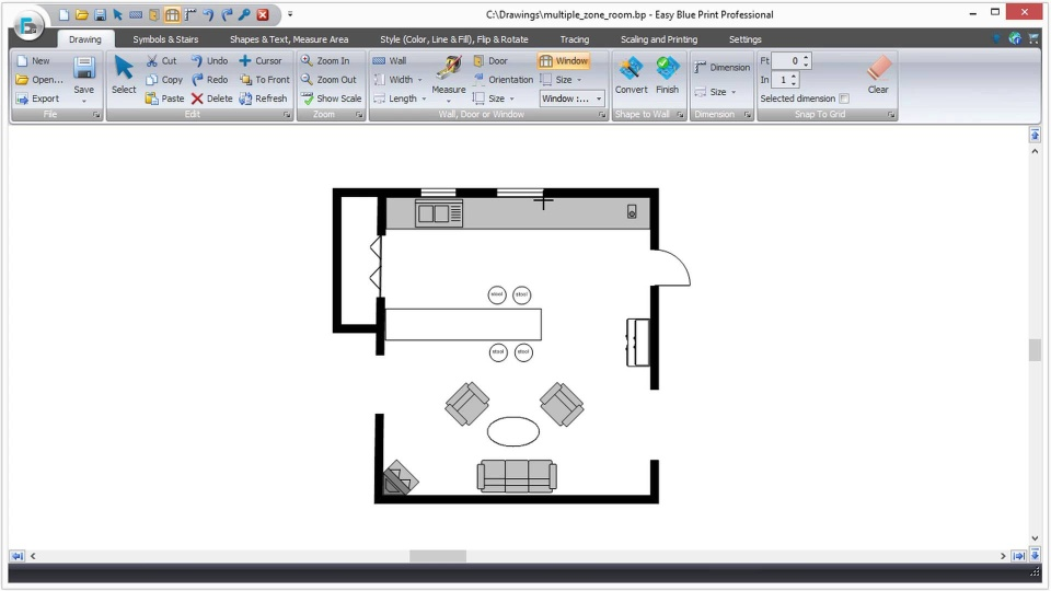 Easy to use floor plan drawing software ezblueprint video thumbnail malvernweather Choice Image