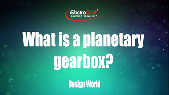 What is a planetary gearbox