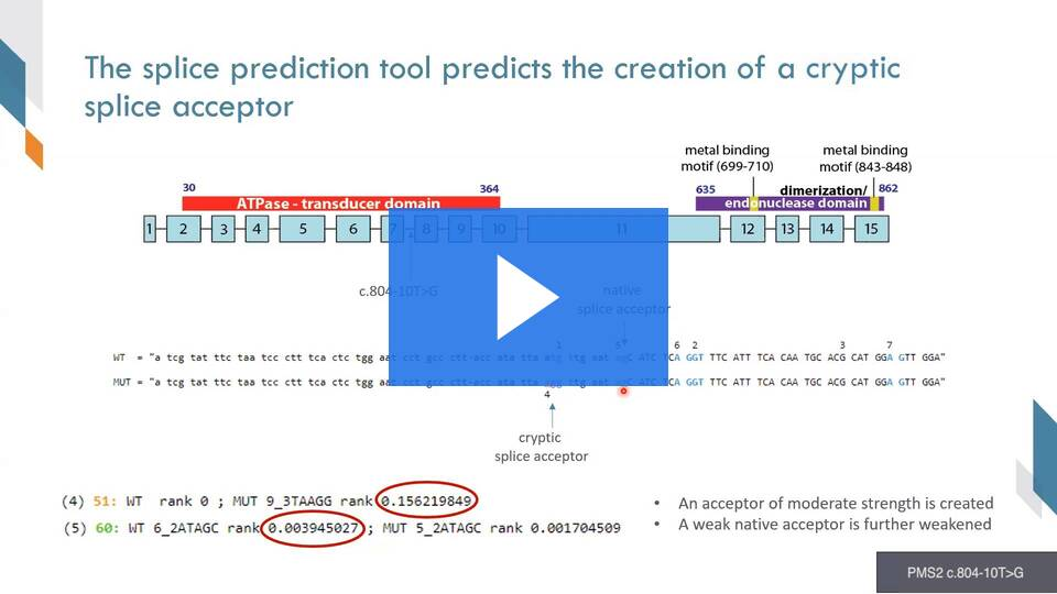 Screenshot from presentation on RNA analysis at Myriad