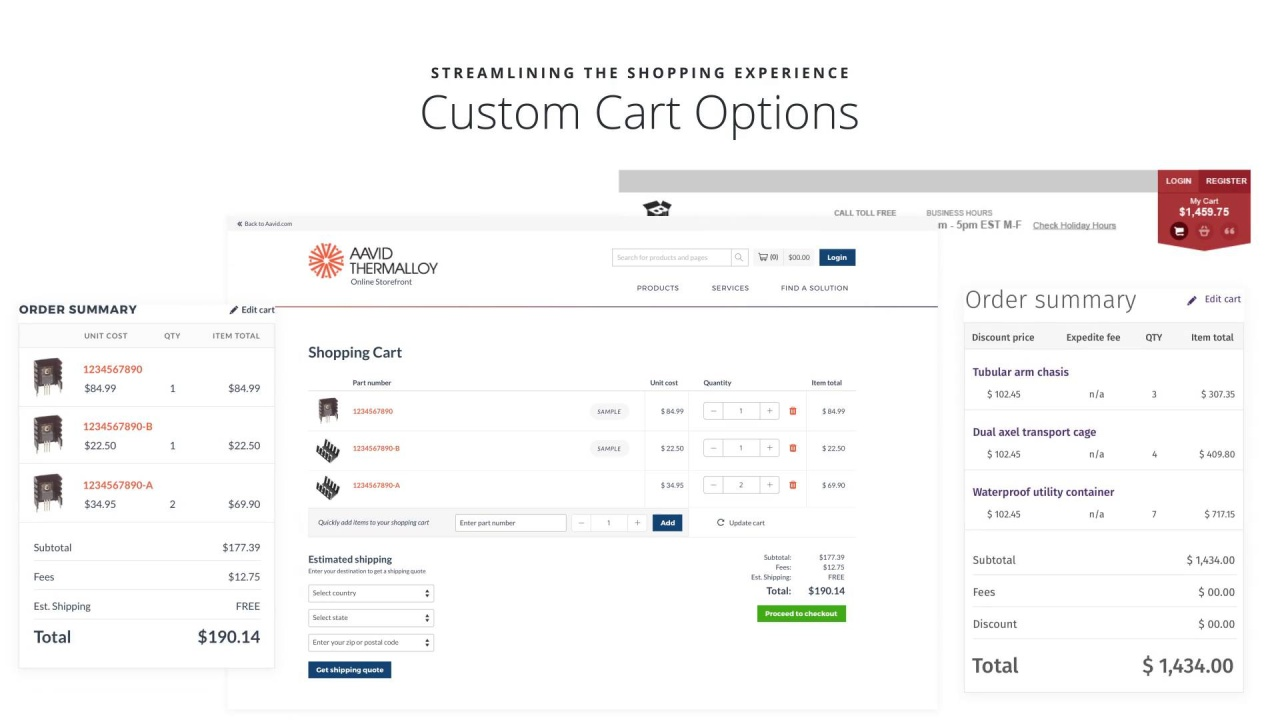 Clarity eCommerce - Carts