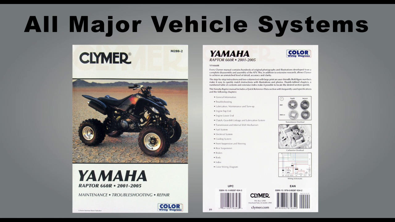 Clymer Haynes Repair Manuals Atv Motorcycle Snowmobile 1986 Harley Heritage Softail Wiring Diagram