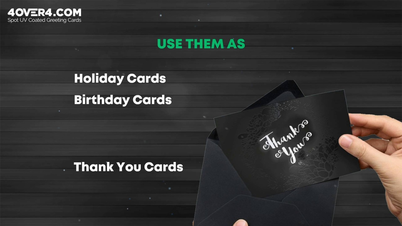 Radiate Light With Glossy Spot UV Coated Greeting Cards