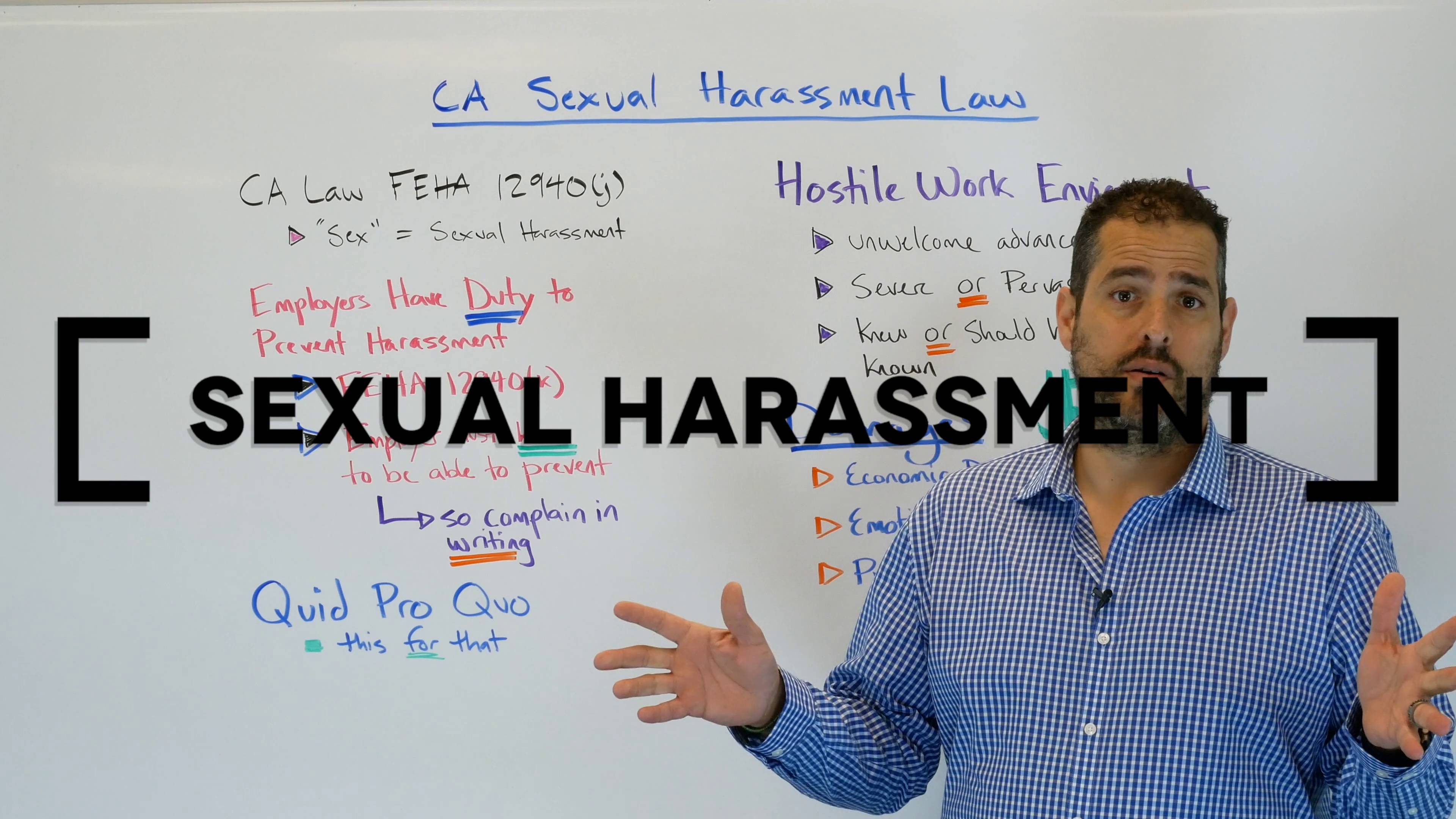 Sexual harassment lawsuit in california