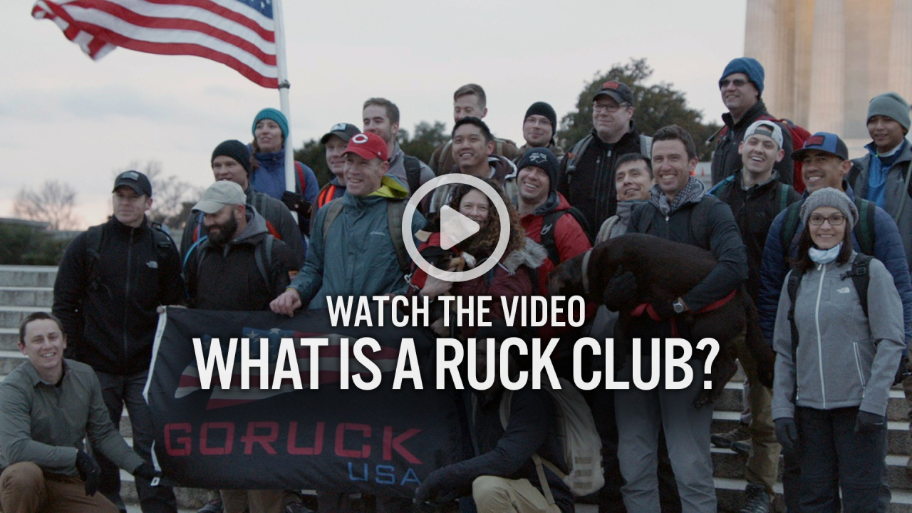 GORUCK Ruck Clubs - What is a Ruck Club?