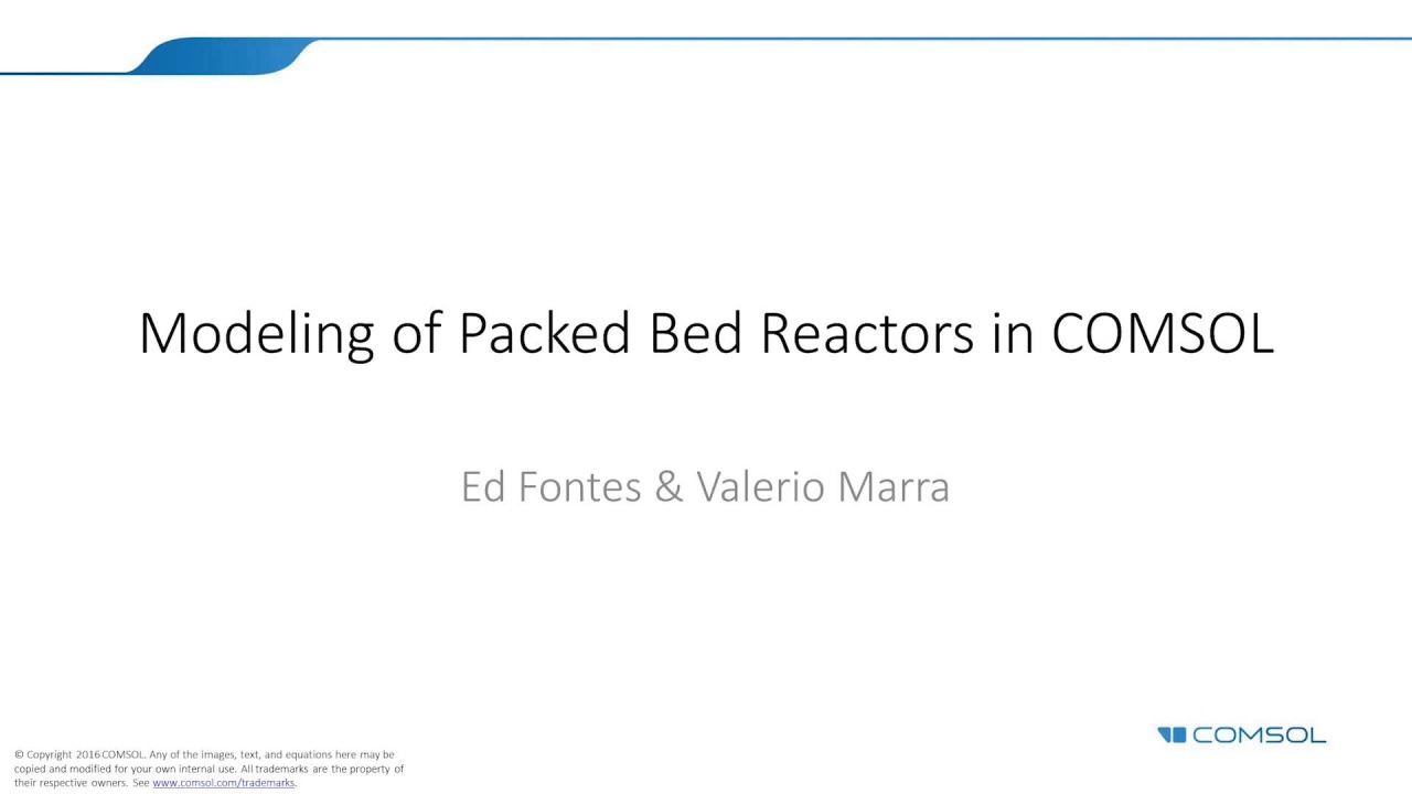 Modeling Packed Bed Reactors in COMSOL Multiphysics®