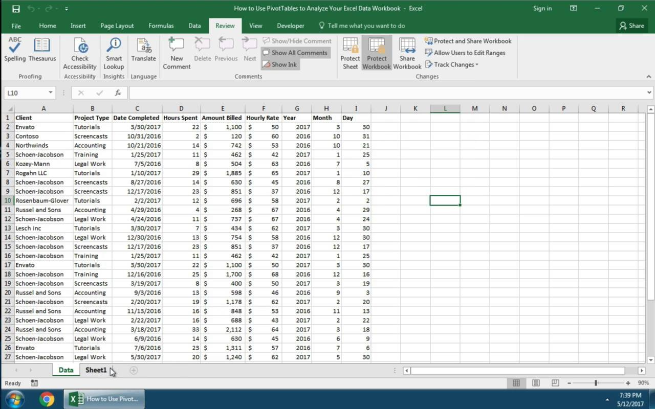How to protect cells sheets and workbooks in excel video thumbnail fandeluxe Choice Image