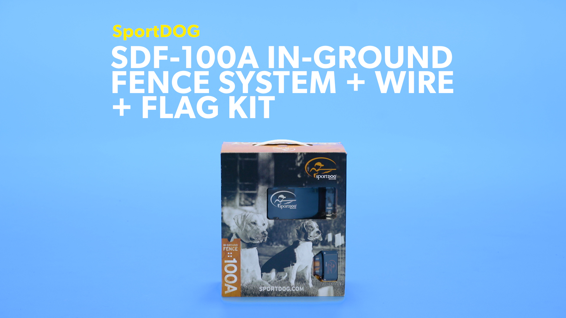 Sportdog Sdf 100a In Ground Fence System For Dogs Wiring Money Precautions