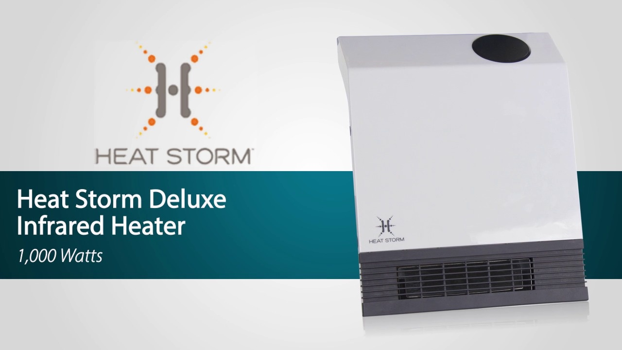 Heat Storm Deluxe Infrared Wall Heater - Free Shipping | Sylvane