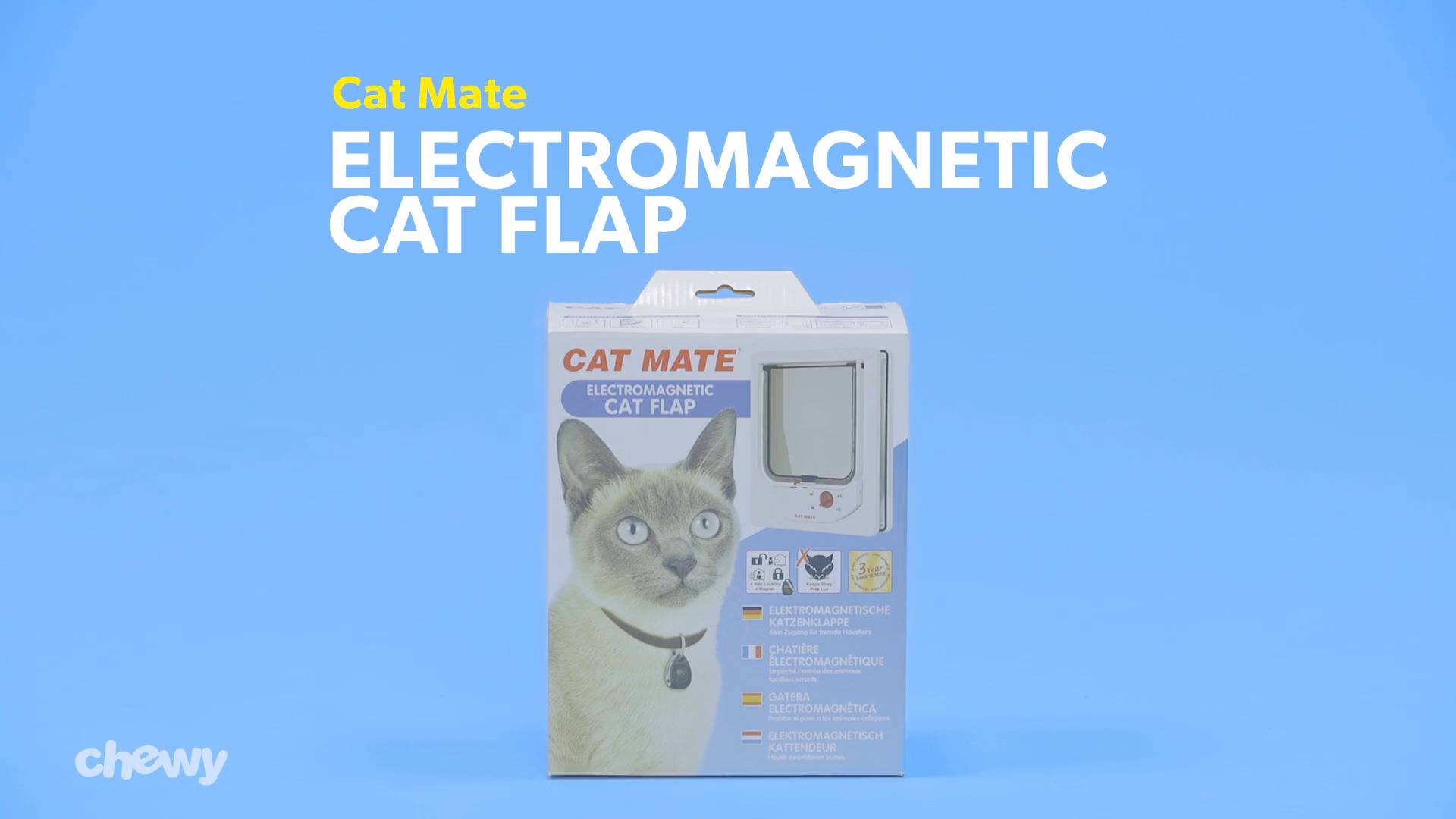 Cat Mate Electromagnetic Cat Flap White Chewy