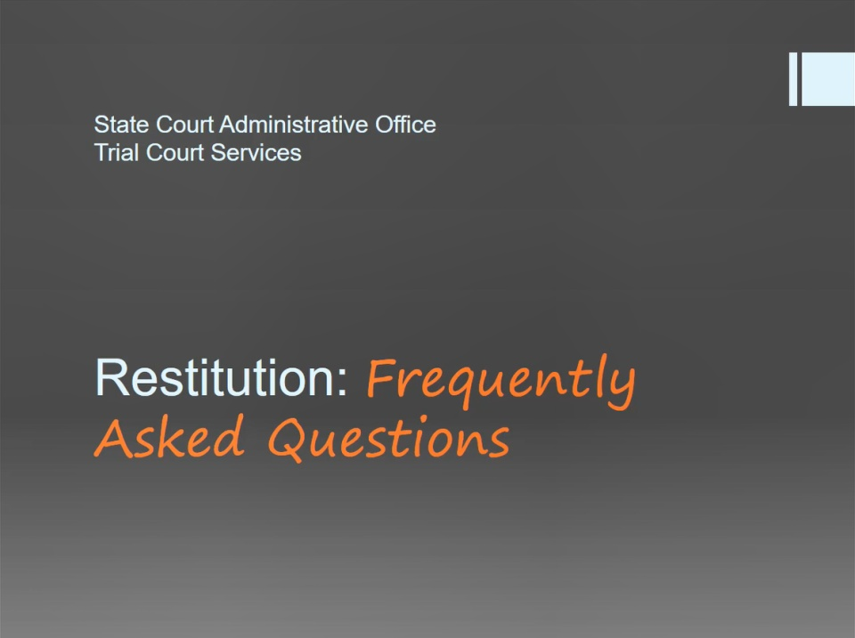 Scao In Brief Restitution Frequently Asked Questions Easyblog