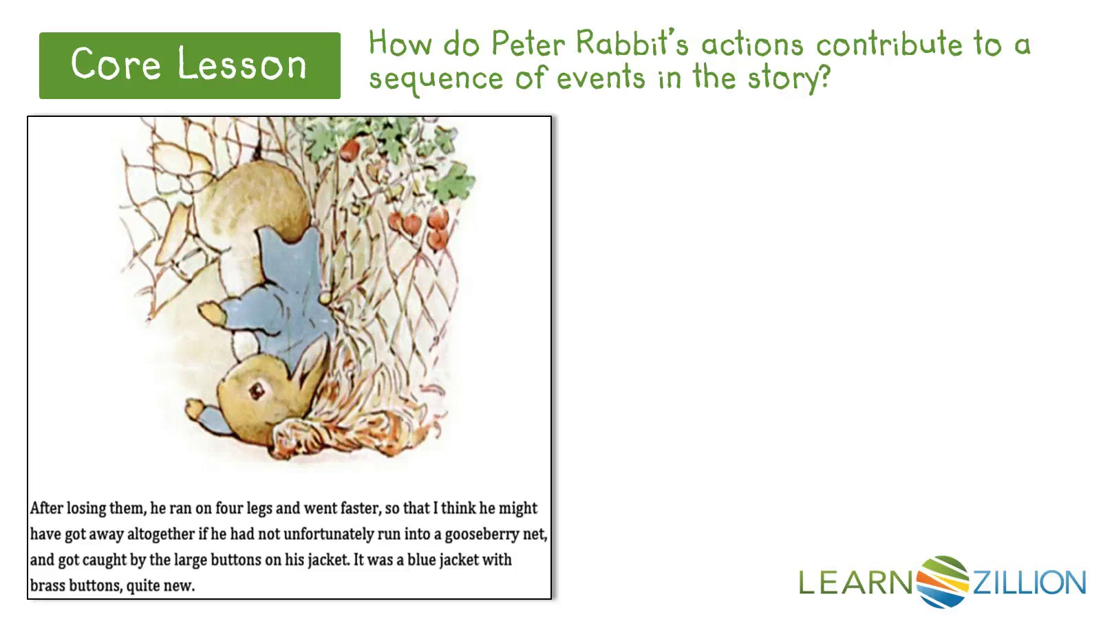 Explain how a character's actions affect a story | LearnZillion