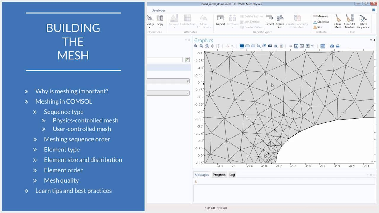 Building the Mesh for a Model Geometry in COMSOL Multiphysics®