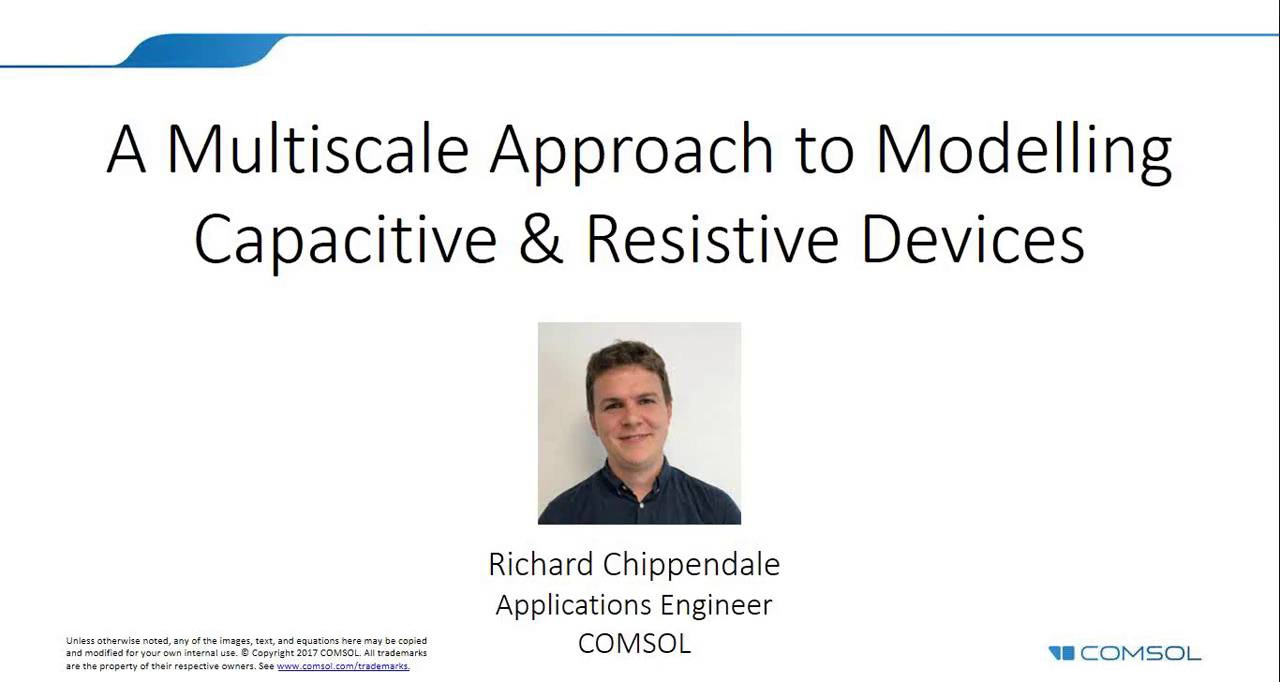 Modeling Capacitive And Resistive Devices With A Multiscale Approach Consider The Following Series Circuit