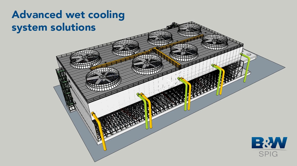 FRP Wet Cooling Tower Animation