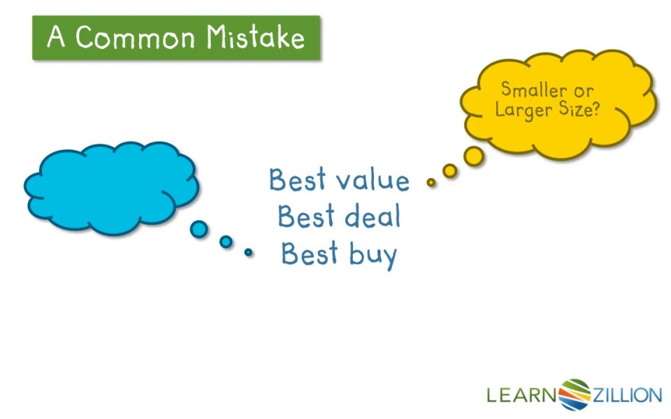 Find The Best Deal By Comparing Unit Rates Learnzillion