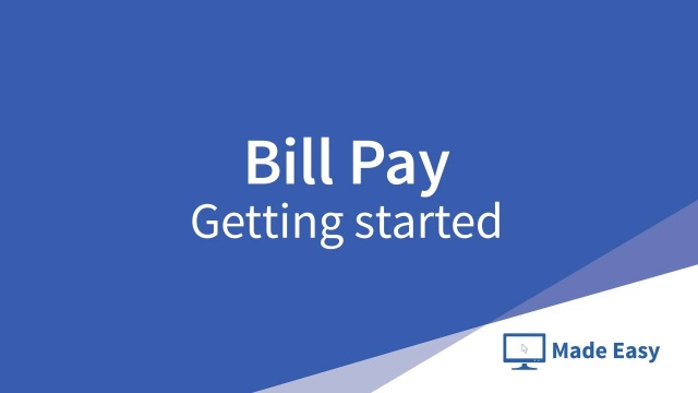 Wistia video thumbnail - Bill pay: Getting started