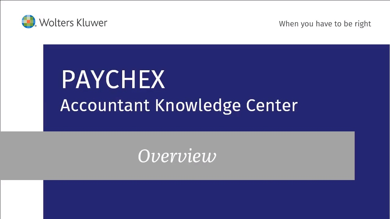 2018 PAYCHEX Accountant Knowledge Center