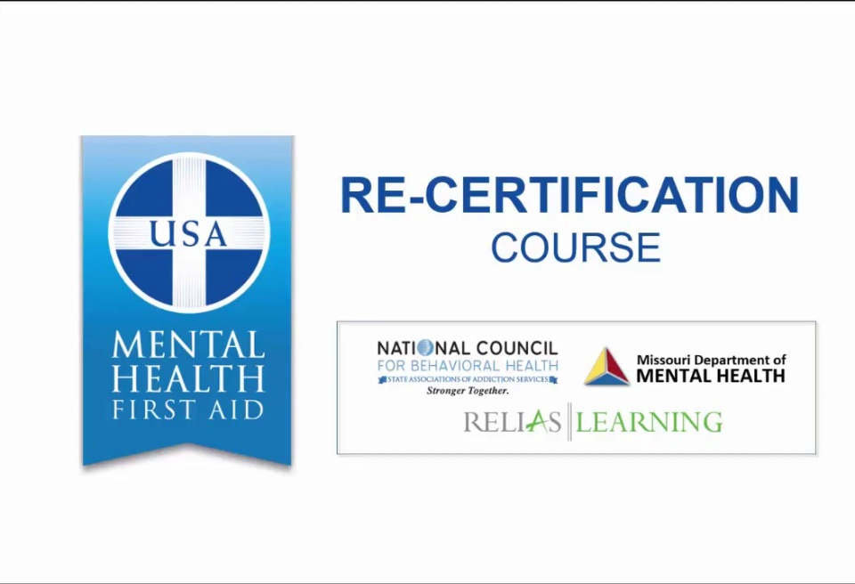 Mental Health First Aid Re Certification