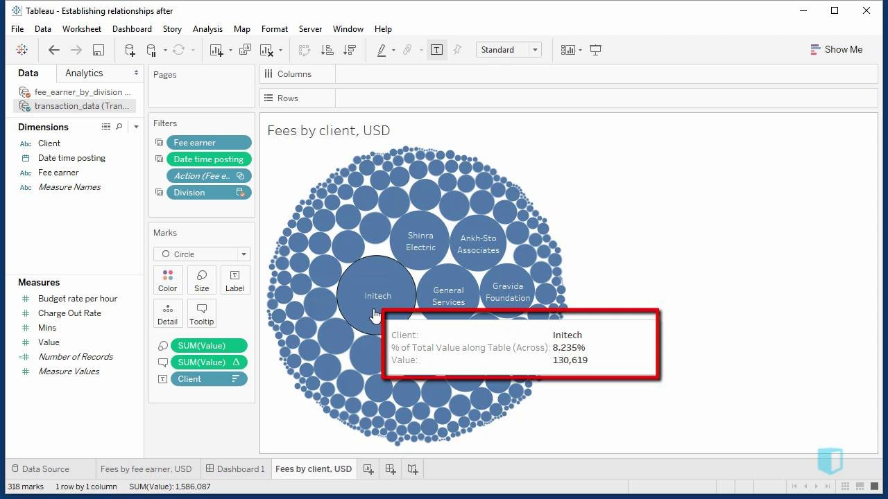 Headings, Details and Tooltips | Online Tableau Training | Kubicle
