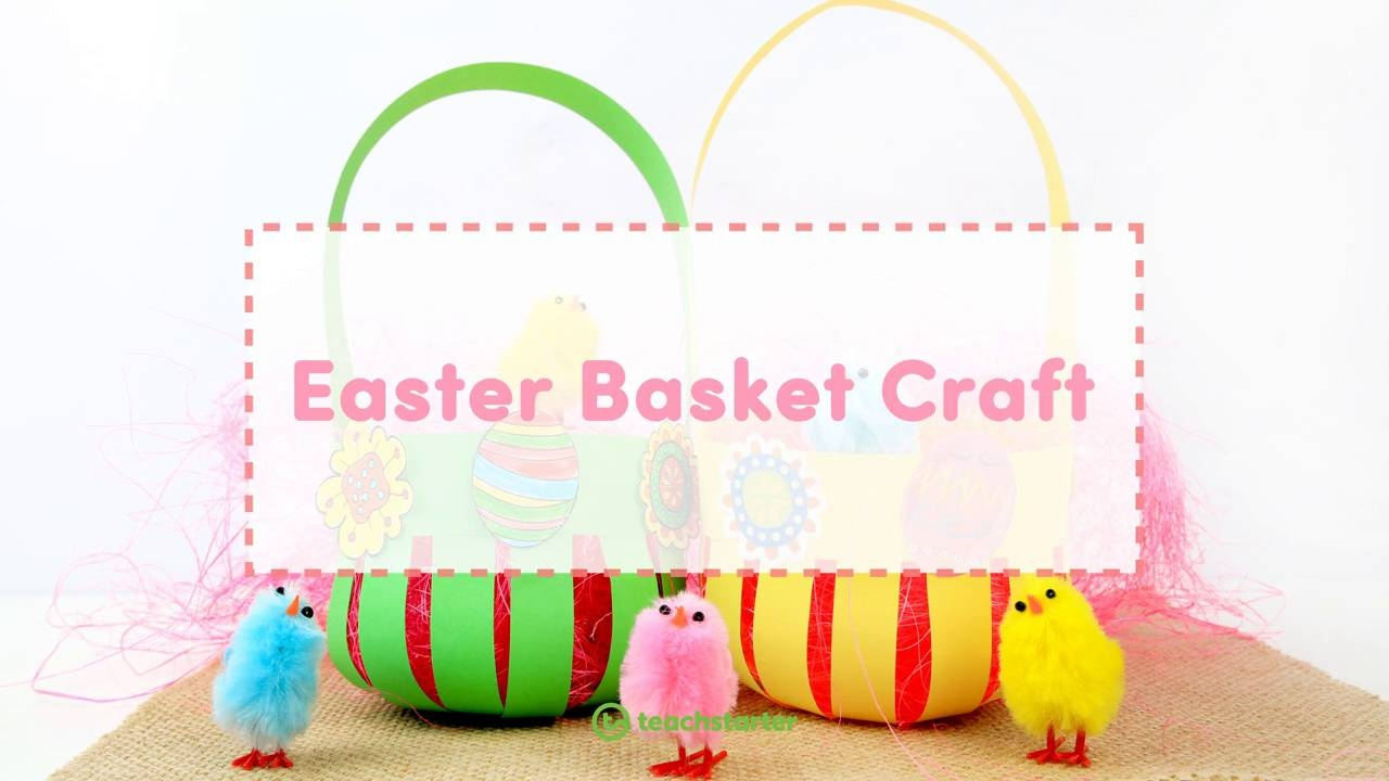 Super Cute Free Printable Easter Basket Craft Activity And Template
