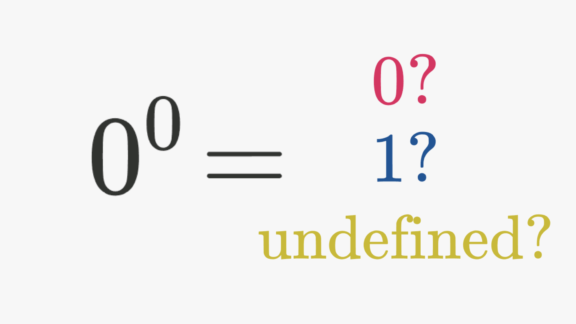 What Is 0 To The Power Of 0 Brilliant Math Science Wiki