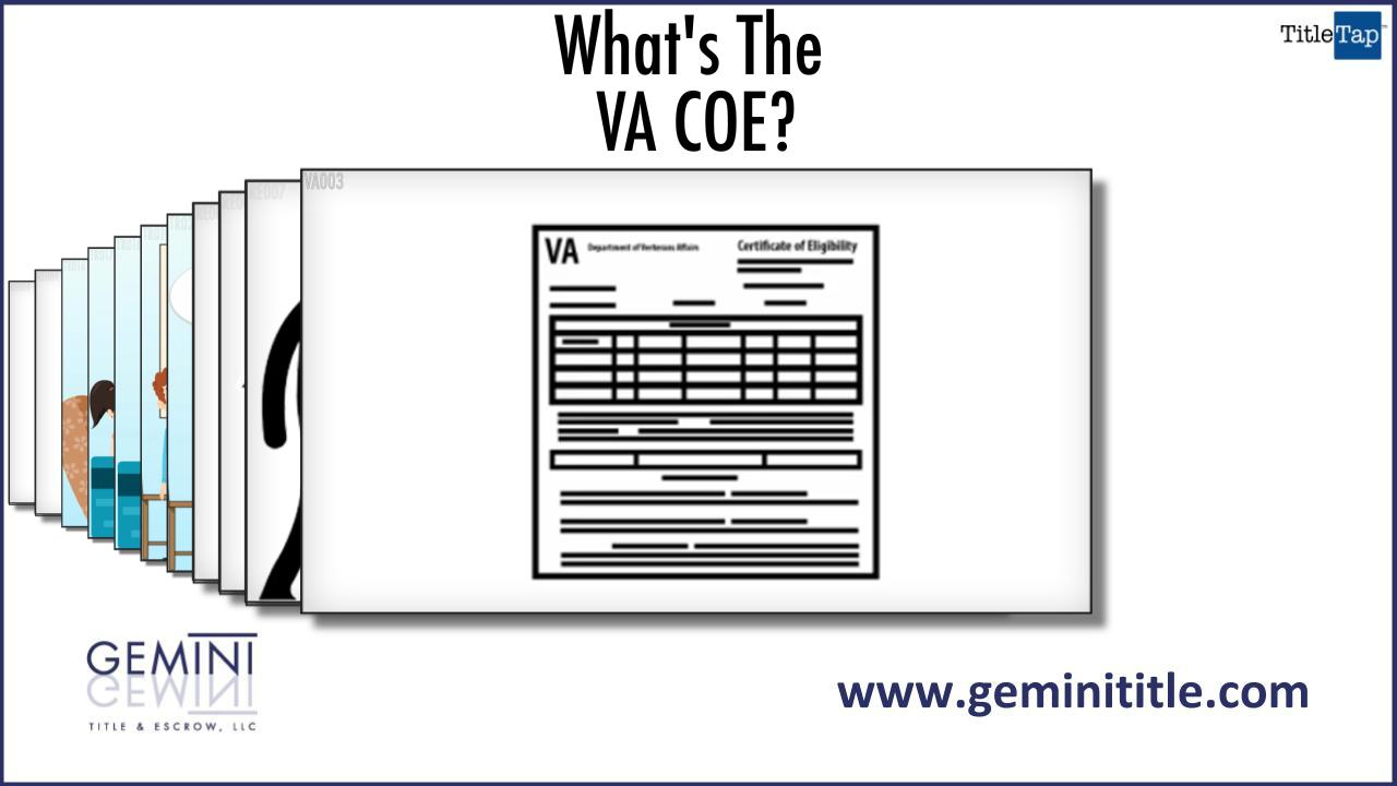 What Is A Certificate Of Eligibility Or Coe Md Va And Dc Title