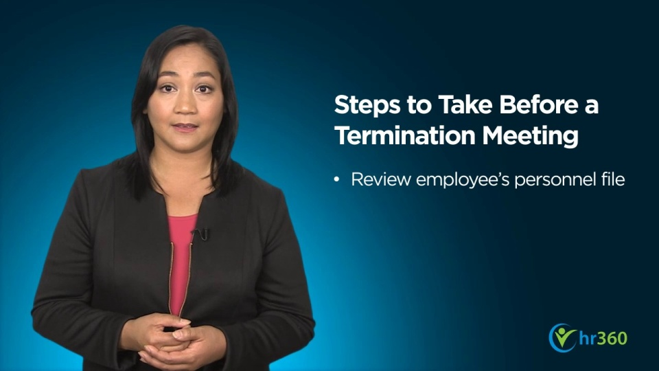 Wistia video thumbnail - Preparing for the Termination Meeting- Part 2 - public