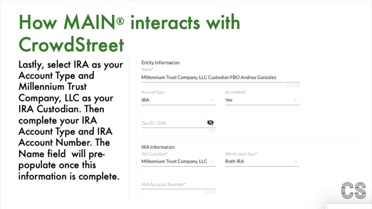 Self Directed Ira Fidelity >> Investing In Cre With An Sdira Millennium Trust And Crowdstreet