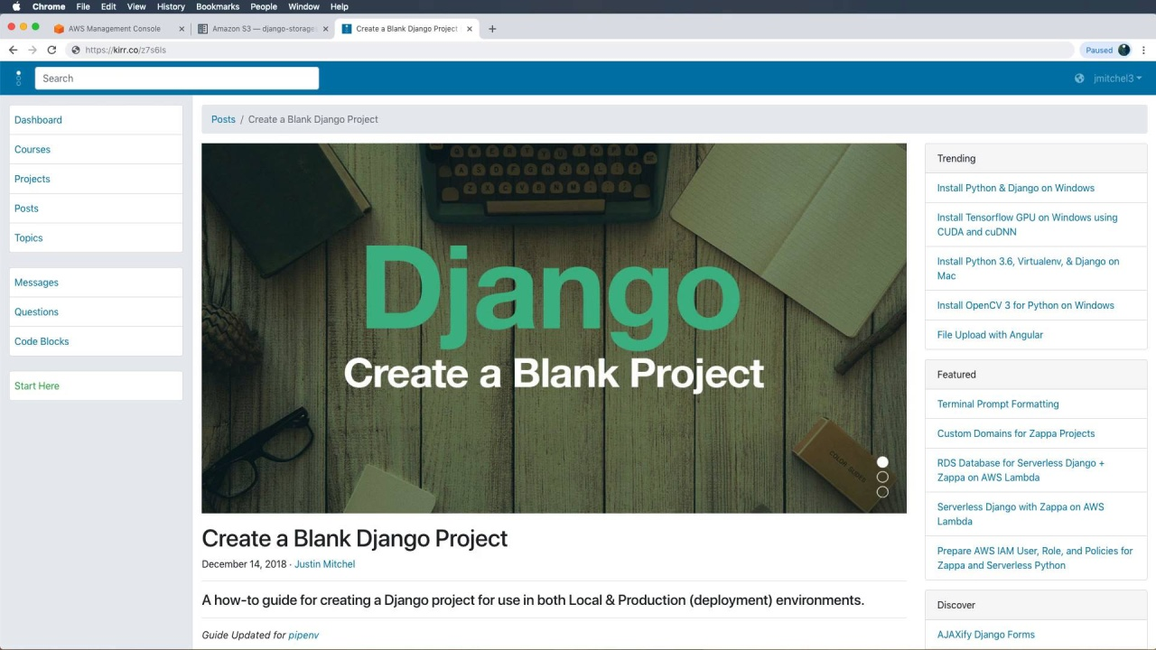 Section Video: Django + S3 + Cloudfront