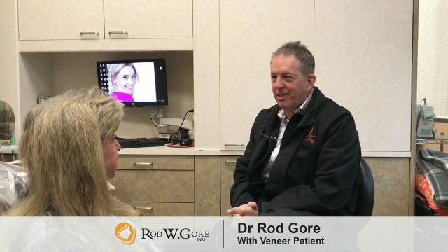 Dr Rod Gore With Prepless Veneer Patient