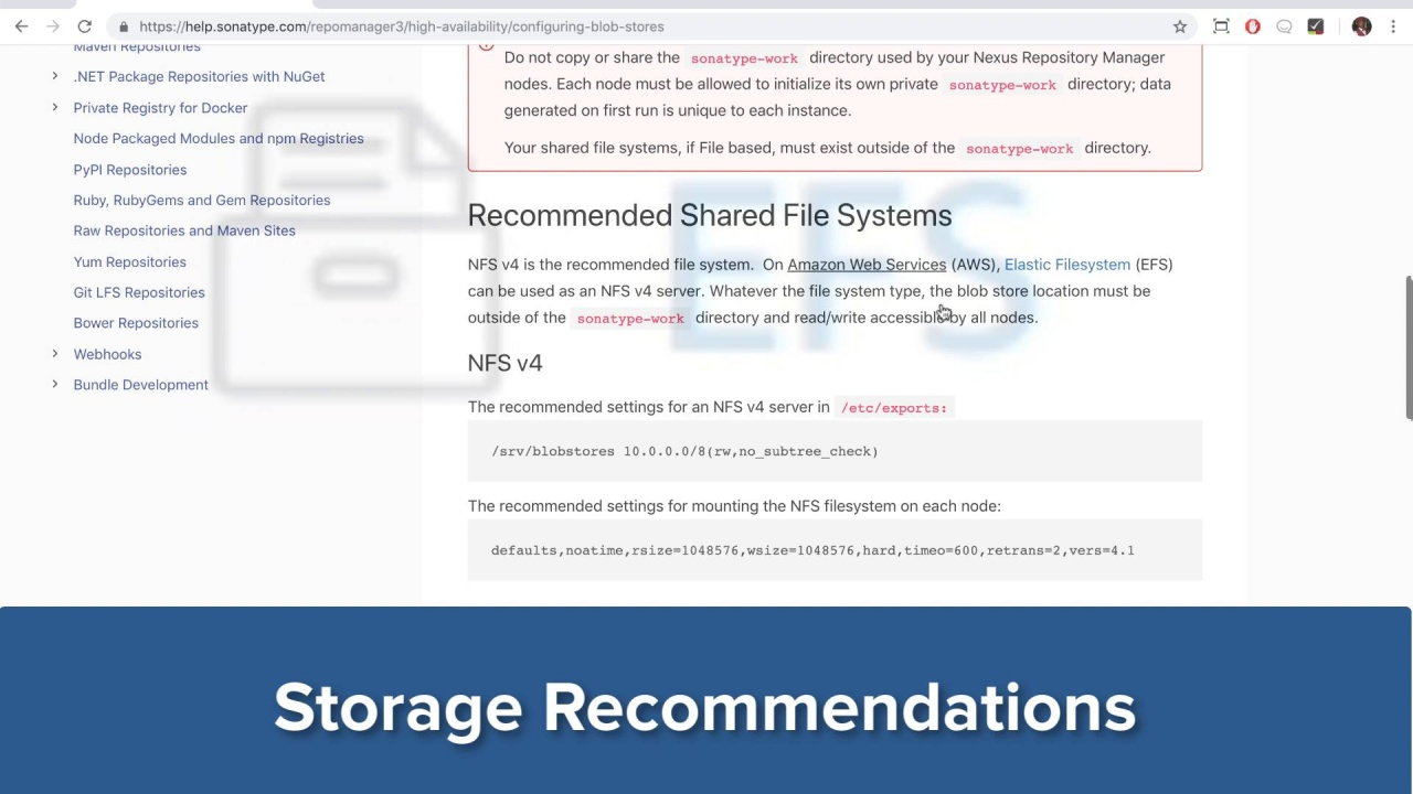 Storage Configuration Recommendations