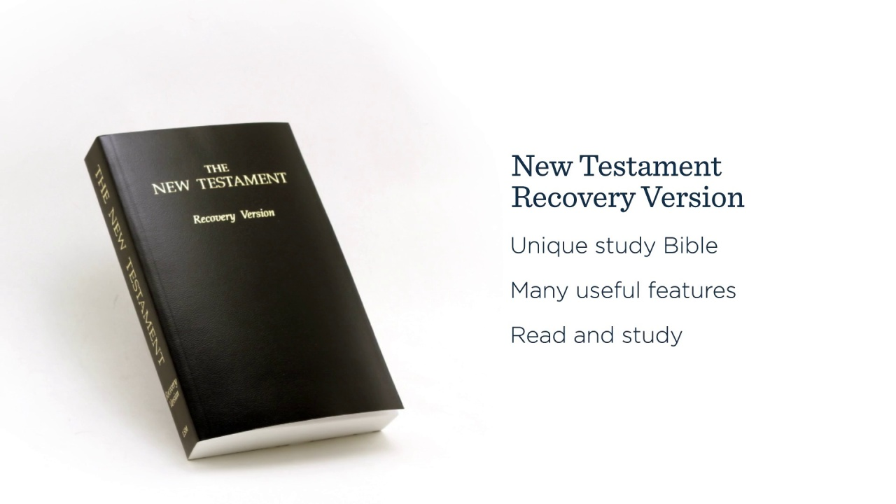 A Free Bible: The New Testament Recovery Version